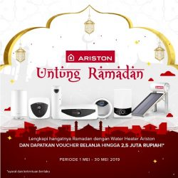 Beli Ariston Dapat Cash Back Dalam Program Untung Ramadhan