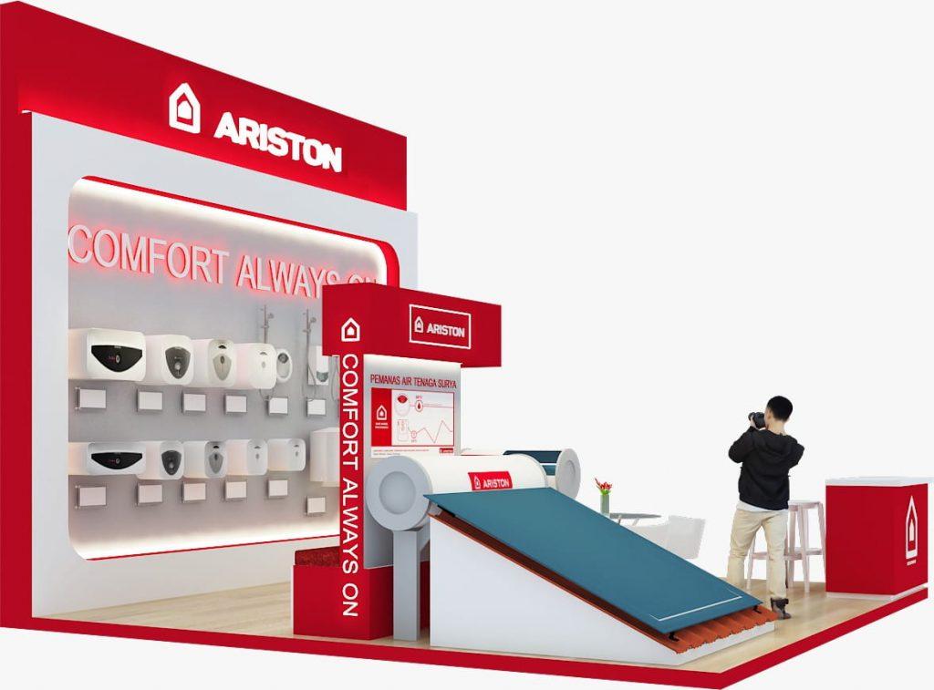 Distributor ariston PT Indotech Energi Persada dalam pameran JIEXPO 2019